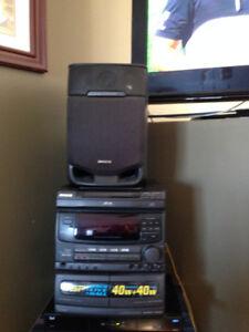 Aiwa Systeme de son 40W + 40W , CX-NV50C +speakers WAS $60