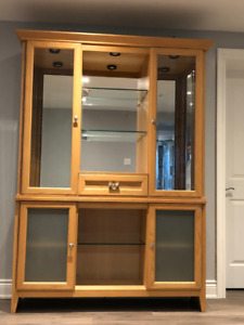 Solid Maple - Buffet / Hutch with 3 lights $250