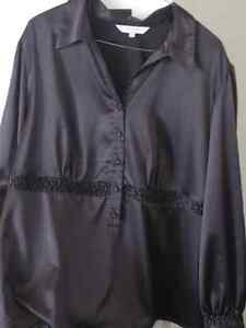 Shiny Black Blouse XL by AE City. Excellent Used Condition.
