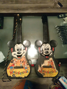Vintage Disney Micky Mouse guitars 1953