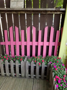 Rustic Pink Picket Fence