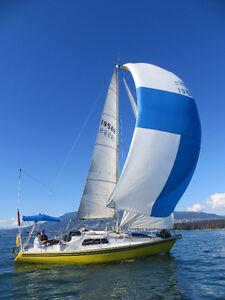 Sail Sloop IOR 1/2 ton racer/cruiser, Diesel IB