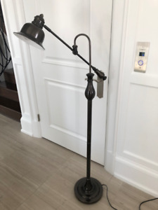 Pewter solid floor reading  lamp