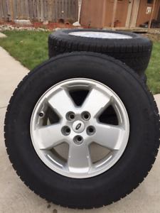BF Goodrich Snow Tires on FORD Rims!