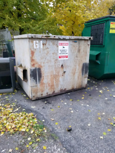 Free 6 Yard old City Metal Garbage Bin