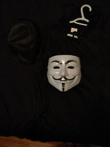 COSTUME HALLOWEEN V POUR VENDETTA ANONYMOUS MASQUE DE GUY FAWKS
