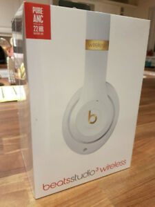 Beats studio 3 wireless white and gold new