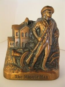 Vintage The Minute Man Coin Bank