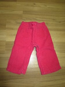 "BABY GIRLS ""BABY GAP"" LINED PANTS - SIZE 12 to 18 MONTHS"