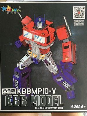 Transformers Autobots Metal Part Kbb Mp 10 V Optimus Prime Figure Toy