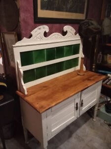 Antique shabby chic chalk paint wash stand