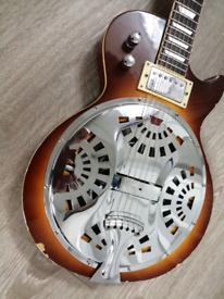 1960s resonator guitar custom built, artwork