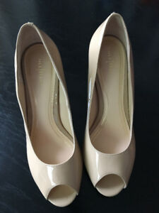 Cole Haan Patent Leather Peep Toe Pumps **LIKE NEW**