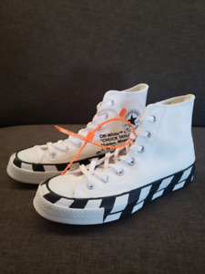 100% auth DS Off-white x Converse Chuck Taylor 70s Hi - US 6