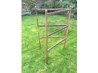 Vintage airer / clothes maiden wood unfinished