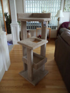 Tall Cat Condo / Tree House & Scratching Post - Durable /Sturdy