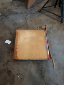 Vintage paper cutter 19 inches