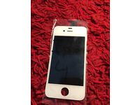 Original Apple iPhone 4 LCD screen white assembly