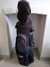 PGA Collection Golf 9 Way Trolley Cart Bag with Free Accessories
