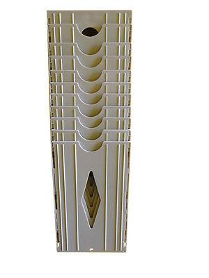 10 Pocket Time Card Rack Wall Mounted Holder Fits Upunch Hn2000 Hn4000 Cards