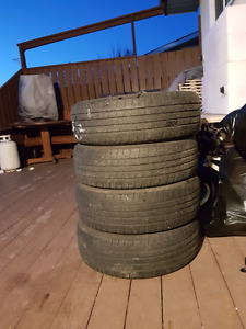 """Set of 4 """"225/65 R17"""" tires"""