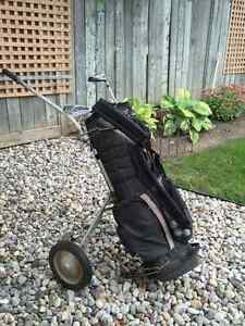GOLF CLUBS/BAG & PULL CART