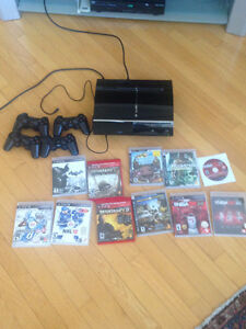 Playstation 3 with 4 Controllers & 11 Games