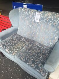 Wingback 2 seater sofa and chair