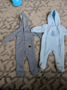 Two baby boy fall winter snowsuits