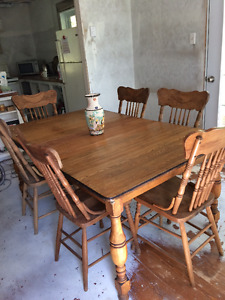 Antique Table-6 Chairs-Hutch & Buffet