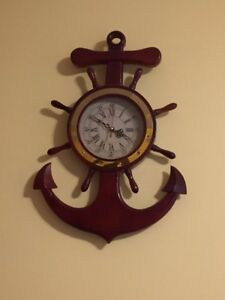 Solid Pine Hand-made Anchor Clock