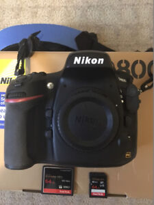 Mint Nikon D800 Body - Very Low Shutter Count and Extras