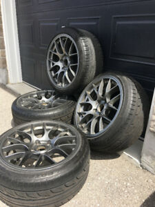 """SUMMER TIRES / RIMS (BMW / MERCEDES/ AUDI) TSW 18"""" STAGGERED"""