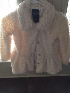 Girl's fur jacket and vest