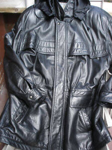 Winter Jacket black leather