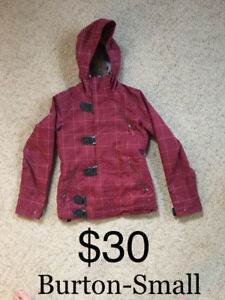 Ladies Small Burton Winter Jacket