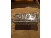 Asian solid silver box