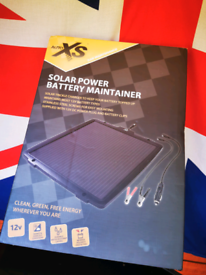 Solar Power Battery Maintainer (camping equipment)