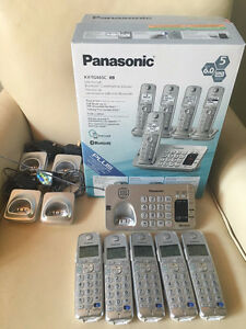 Panasonic KX-TG465C-SK Link-to-Cell Cordless Phone (5 Handsets)