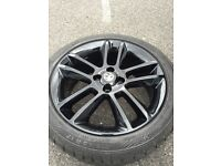 215 45 17 Vauxhall Corsa 1.2 black alloy wheel 17 inch