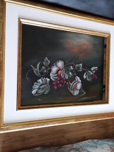 Vigne et fleurs
