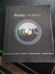 Society the basics fifth ed. textbook for red river college