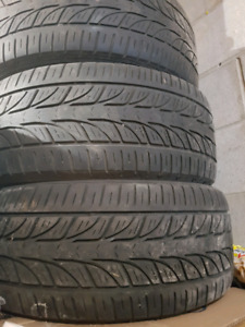 3 bridgestone potenza tires on pontiac chrome rims $60