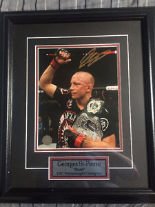 Authentic Signed Georges St-Pierre Championship photo