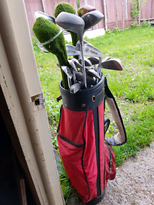 MIXED GOLF CLUBS AND BAG best offer TAKES all
