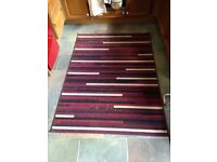 Red and mixed rug