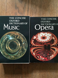 Concise Oxford Dictionaries of Music and Opera SCHOLES - 1973
