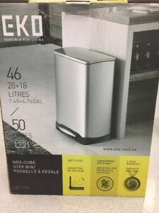 New – EKO Dual Compartment Trash Can and Recycler 28-18L
