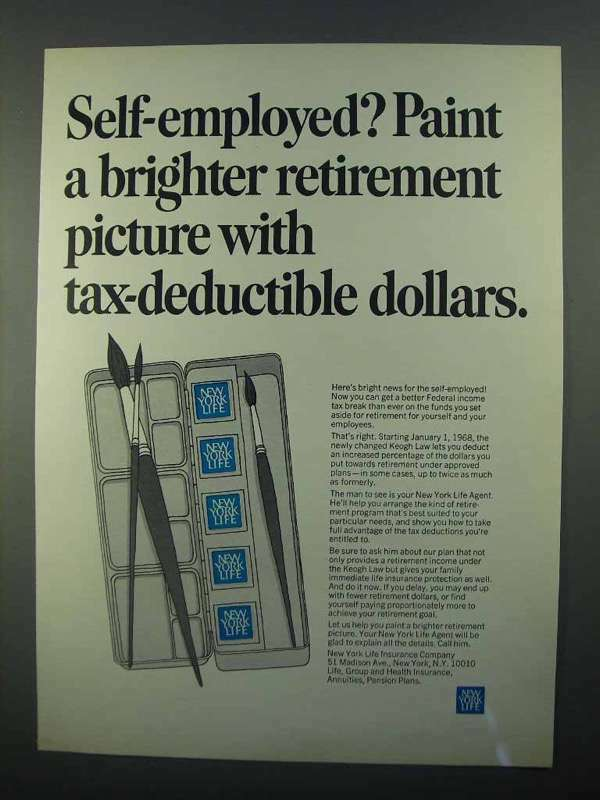 1968 New York Life Ad - Paint a Brighter Retirement