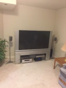 """60"""" TV and stand"""